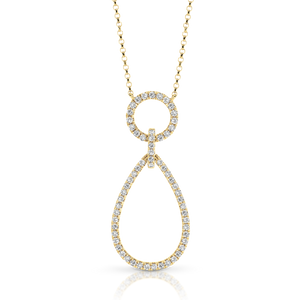 "18ct Yellow Gold and Diamond ""Jacqui"" Necklace - Gemma Stone Jewellery"