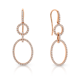 "18ct Rose Gold and Diamond ""Jacqui"" Earrings - Gemma Stone Jewellery"