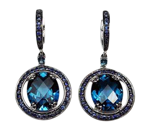 London Blue Topaz & Sapphire 'Capri' Earrings - Gemma Stone  ABN:51 621 127 866