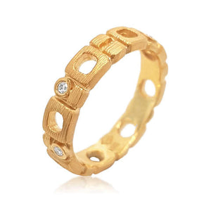 14ct Yellow Gold and Diamond Scolasta Ring - Gemma Stone Jewellery