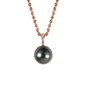 "Rose Gold and Tahitian Pearl Adjustable ""Stella"" Necklace - Gemma Stone Jewellery"