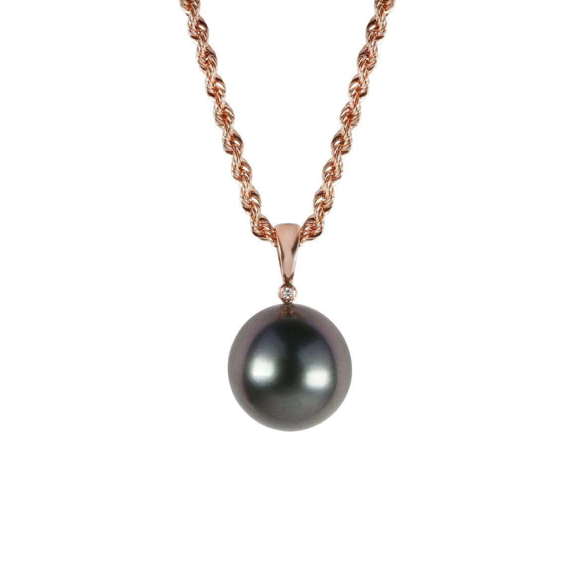 "Rose Gold and Tahitian Pearl Adjustable ""Stella"" Necklace - Gemma Stone  ABN:51 621 127 866"