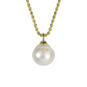 "Yellow Gold and South Sea Pearl Adjustable ""Stella"" Necklace - Gemma Stone  ABN:51 621 127 866"