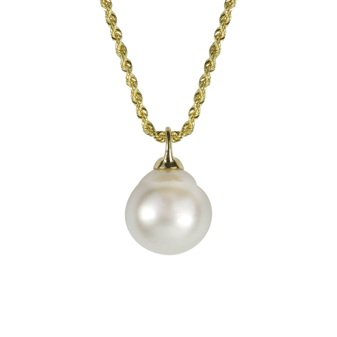 "Yellow Gold and South Sea Pearl Adjustable ""Stella"" Necklace - Gemma Stone Jewellery"