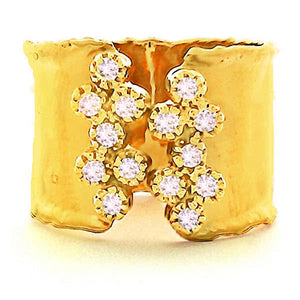 14ct Yellow Gold and Diamond Vincenza Ring - Gemma Stone  ABN:51 621 127 866