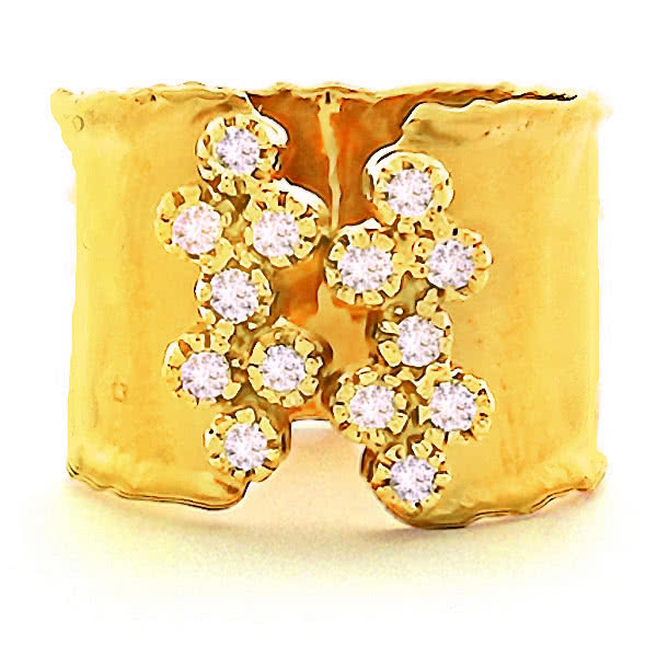 14ct Yellow Gold and Diamond Vincenza Ring - Gemma Stone Jewellery