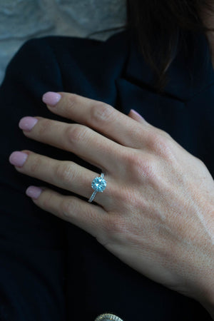 Aquamarine and Diamond 'Almora' Ring - Gemma Stone  ABN:51 621 127 866