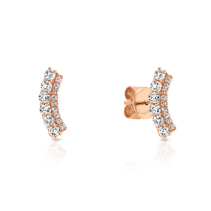18ct Gold & Diamond 'Heidi' ear climber - Gemma Stone Jewellery