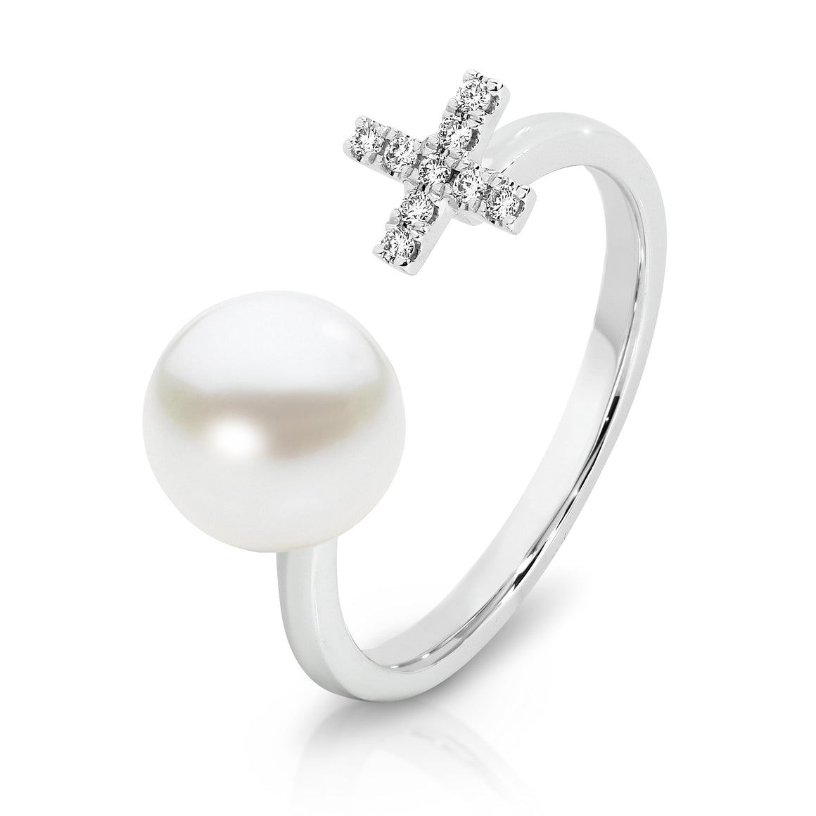 18ct Gold Diamond & Pearl 'Luella' Ring - Gemma Stone  ABN:51 621 127 866