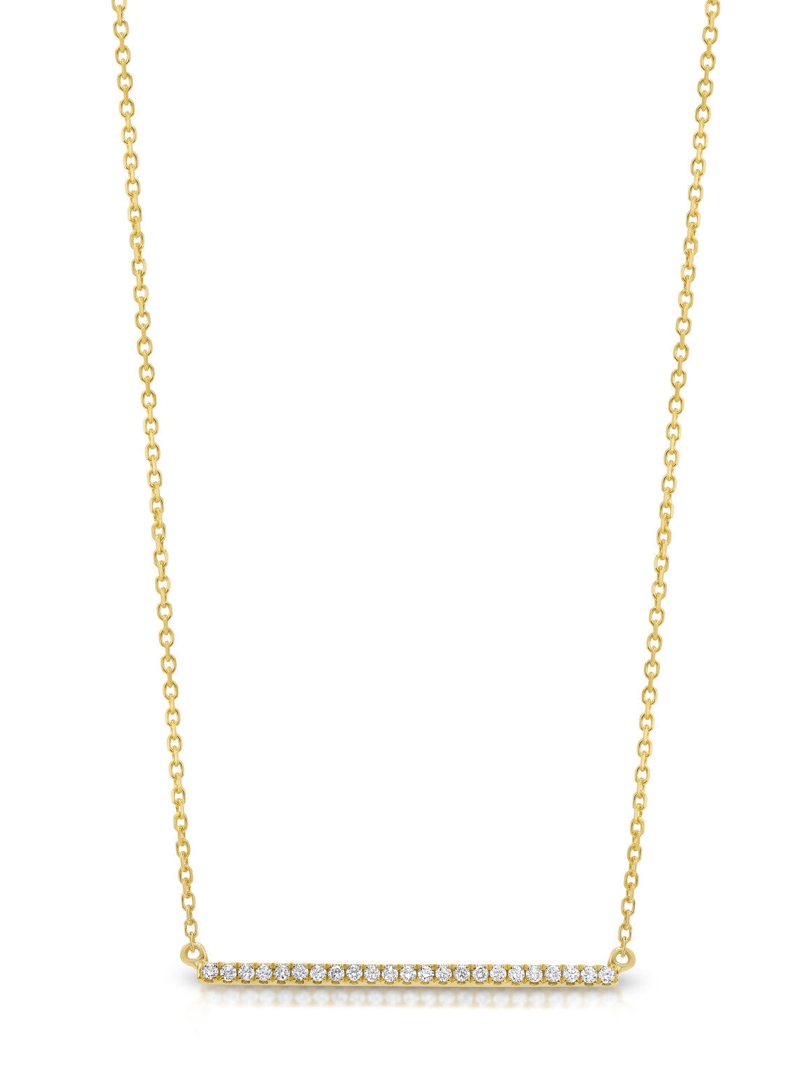 "18ct Diamond ""Bar"" Necklace - Gemma Stone Jewellery"