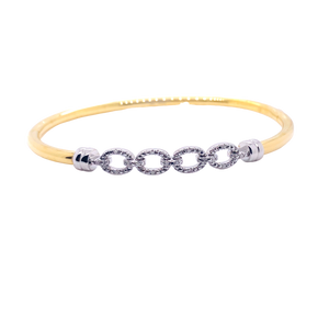 Gold Plated Diamond 'Chain' Bangle - Gemma Stone  ABN:51 621 127 866