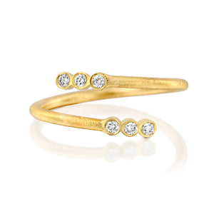 14ct Gold and Diamond Ribbon Ring. - Gemma Stone Jewellery