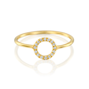 14ct Gold and Diamond Halo Ring. - Gemma Stone Jewellery