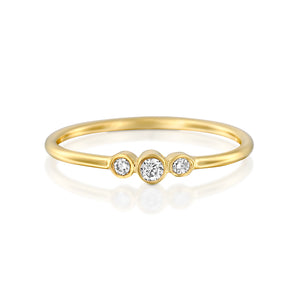 14ct Gold and Diamond Soulara Ring. - Gemma Stone Jewellery