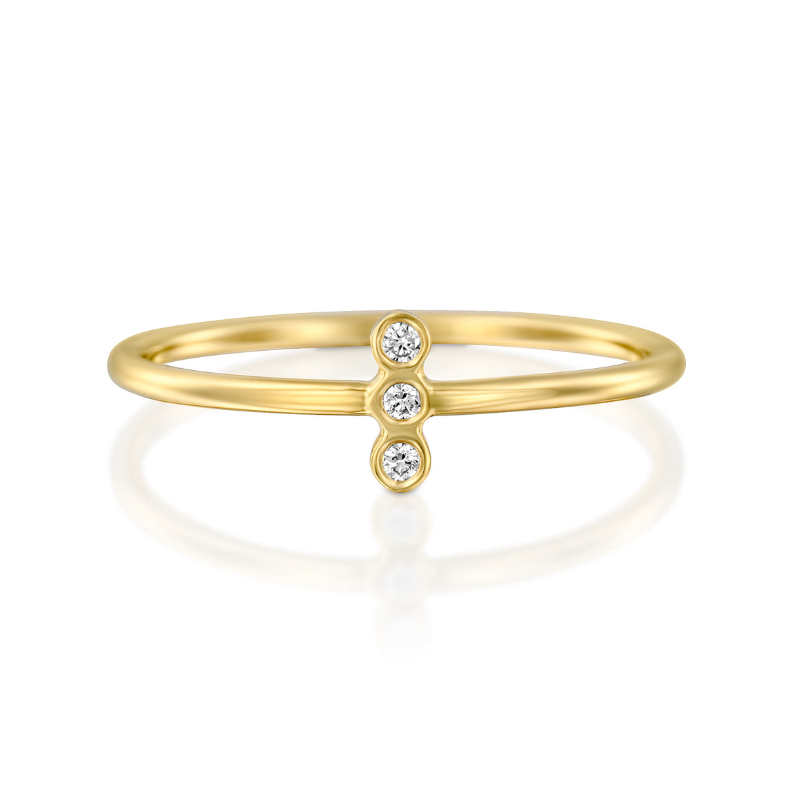 14ct Gold and Diamond Athena Ring. - Gemma Stone Jewellery