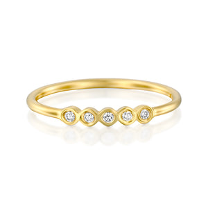 14ct Gold and Diamond Parola Ring. - Gemma Stone Jewellery