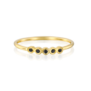 14ct Gold and Diamond Agata Ring. - Gemma Stone Jewellery