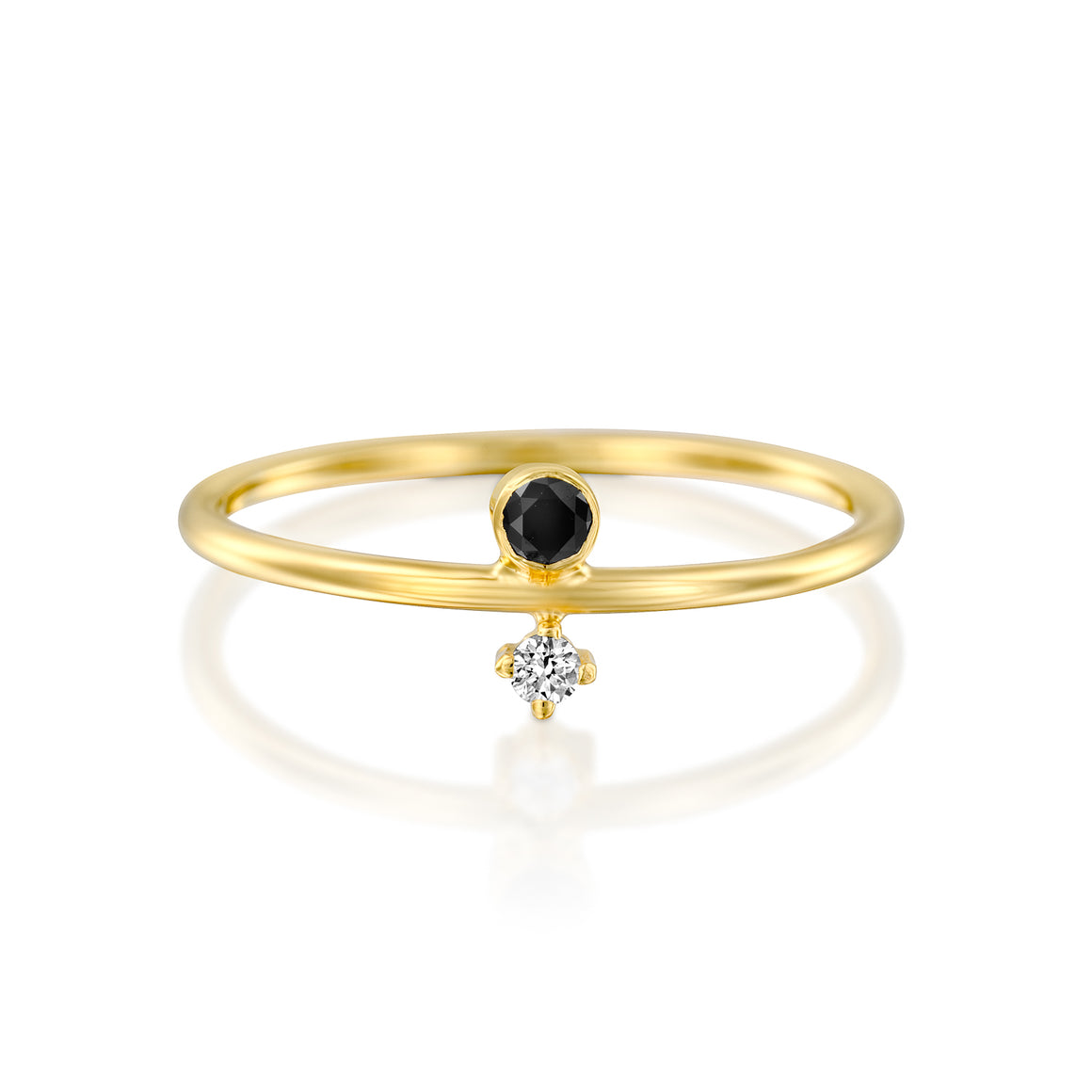 14ct Gold and Diamond Agola Ring. - Gemma Stone Jewellery