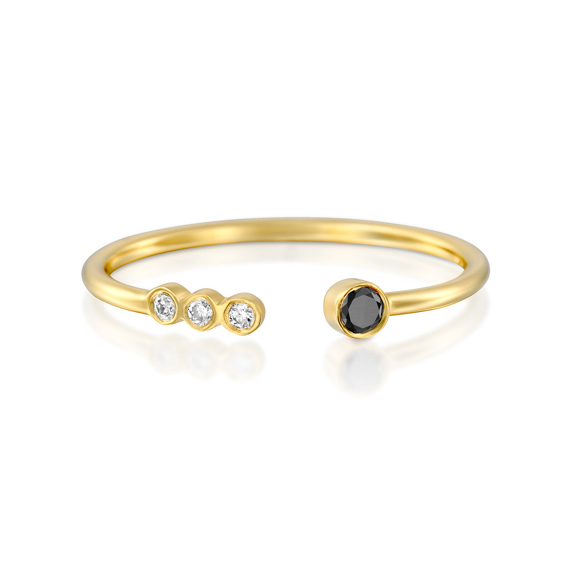 14ct Gold and Diamond Agaza Ring. - Gemma Stone Jewellery