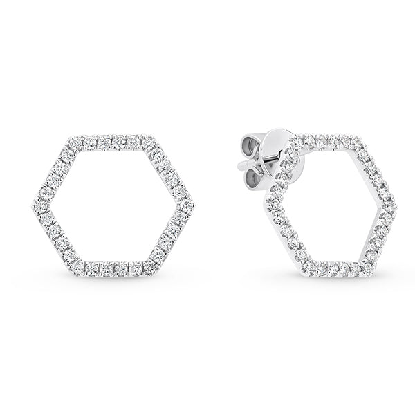 Hexagonal Diamond Studs