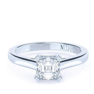Asscher Cut Solitaire Diamond 'Chania' Ring - Gemma Stone Jewellery
