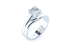 Asscher Cut Solitaire Diamond 'Chania' Ring - Gemma Stone  ABN:51 621 127 866
