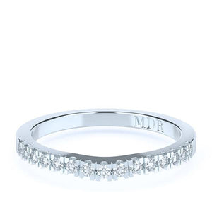 The 'Darci' Diamond Fitted Wedding Ring - Gemma Stone  ABN:51 621 127 866