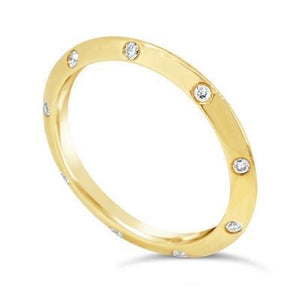 Diamond Punch Set Ring - Gemma Stone Jewellery