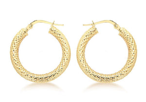 9k Yellow Gold 'Collins' Earrings - Gemma Stone Jewellery