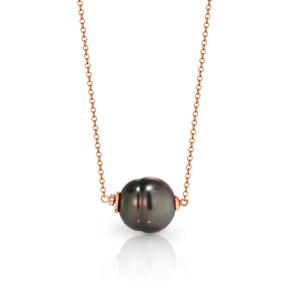 UNIPearl Tahitian Pearl with Diamond Necklace - Gemma Stone Jewellery