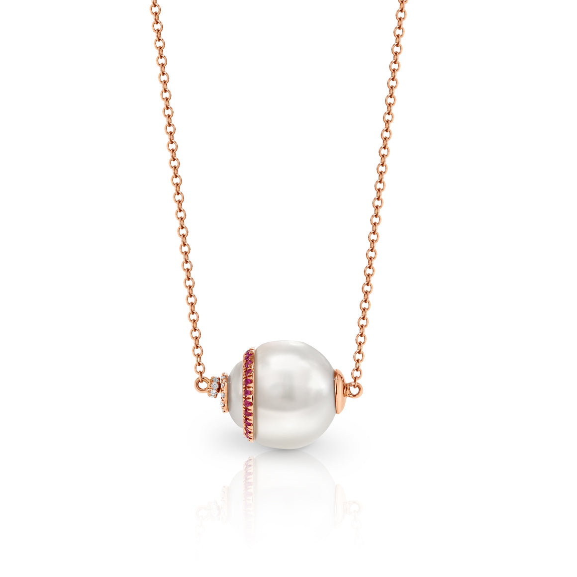 UNIPearl South Sea Pearl with Diamond and Ruby Necklace - Gemma Stone  ABN:51 621 127 866