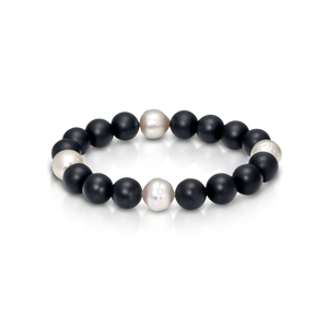 South Sea Pearl and Agate Bracelet - Gemma Stone Jewellery