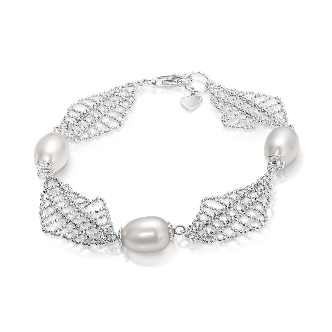 "The ""Alexandra"" Silver and Pearl Bracelet - Gemma Stone  ABN:51 621 127 866"