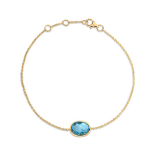 18ct Gold and Topaz Bracelet - Gemma Stone Jewellery