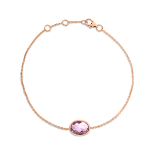 18ct Gold and Amethyst Bracelet - Gemma Stone Jewellery