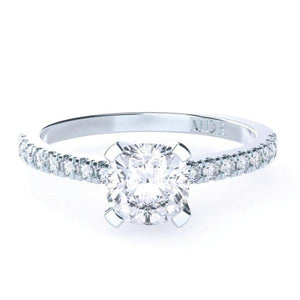Cushion Cut Diamond Solitaire 'Cara' Ring with diamond band - Gemma Stone Jewellery