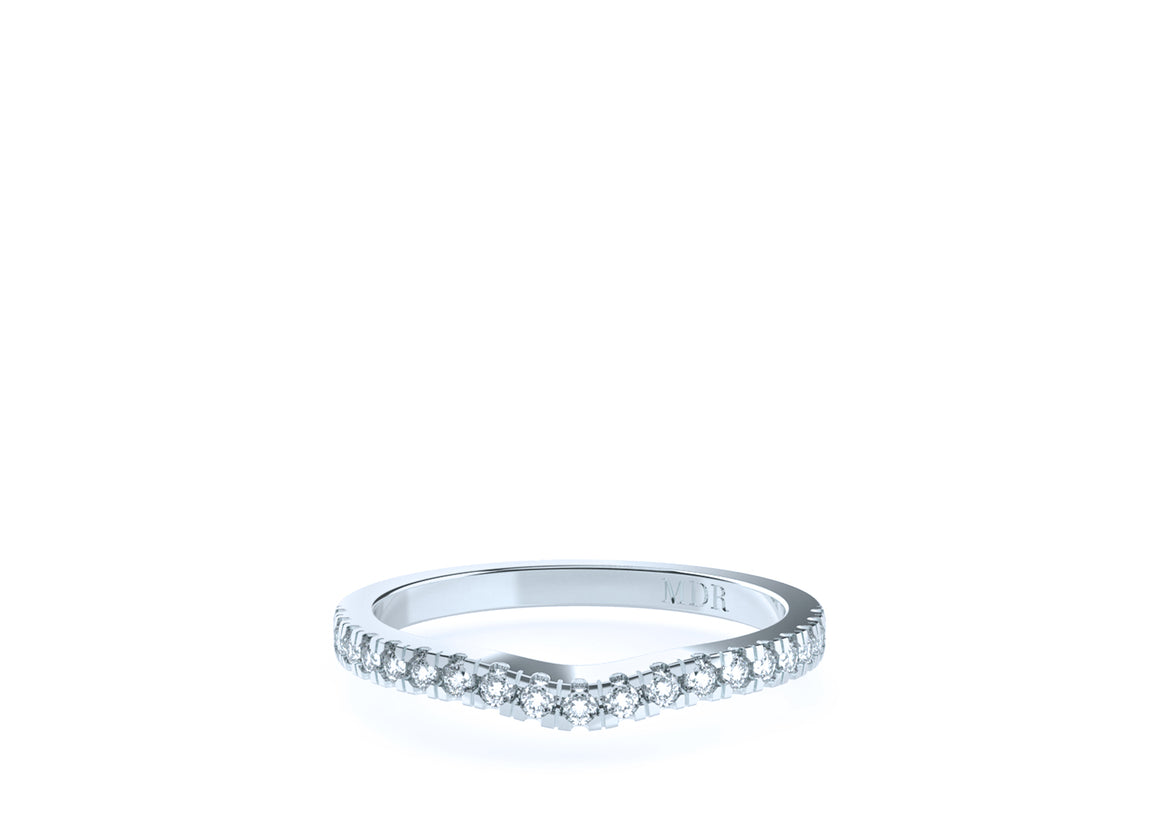 The 'Cara' Diamond Fitted Wedding Ring - Gemma Stone  ABN:51 621 127 866