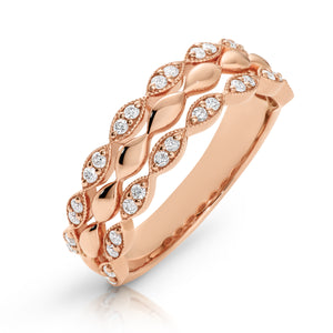 9ct Gold & Diamond Cami Ring - Gemma Stone  ABN:51 621 127 866