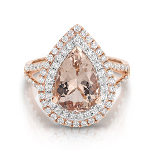Morganite & Diamond 'Alexa' Ring - Gemma Stone  ABN:51 621 127 866