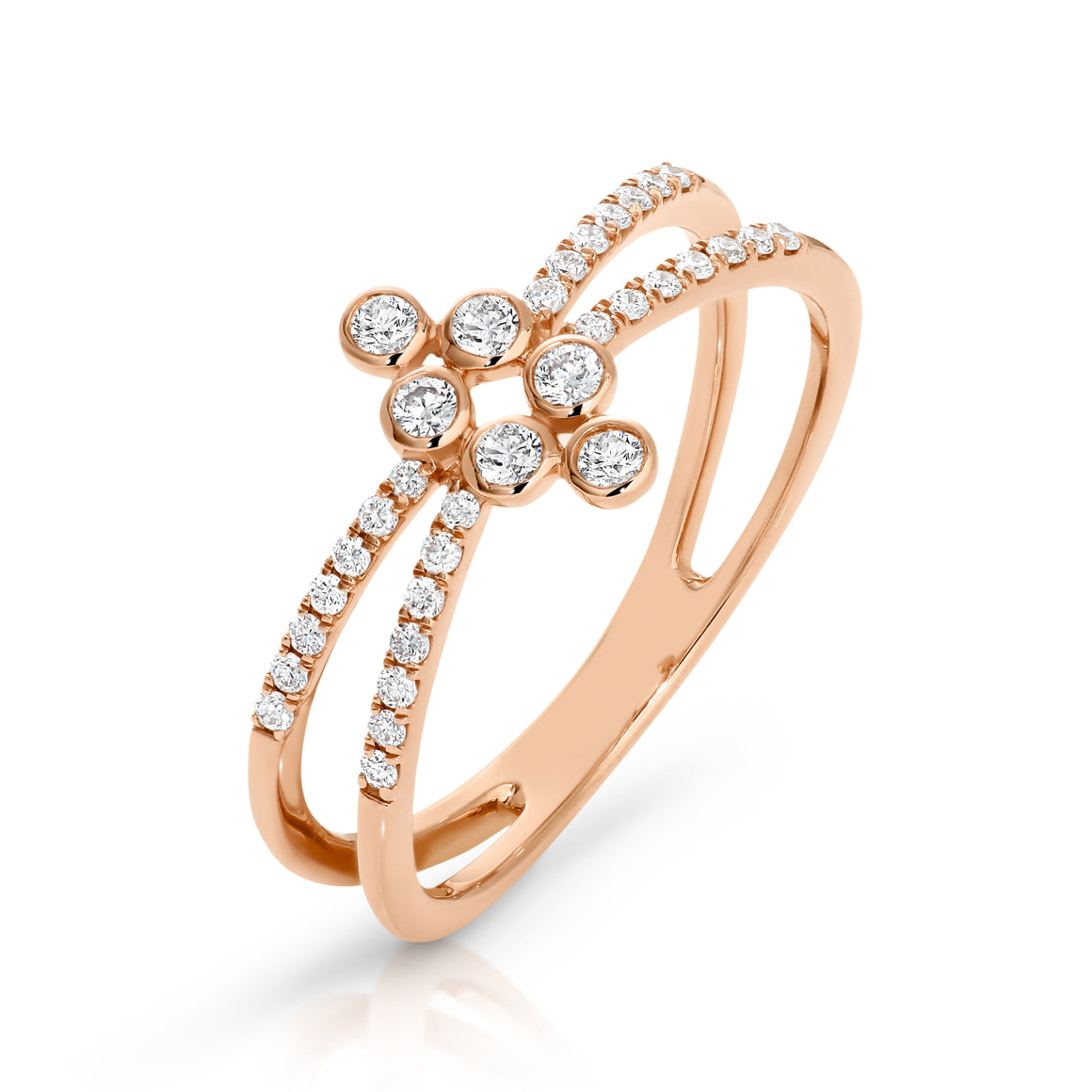 9ct Gold & Diamond Claire Ring - Gemma Stone Jewellery