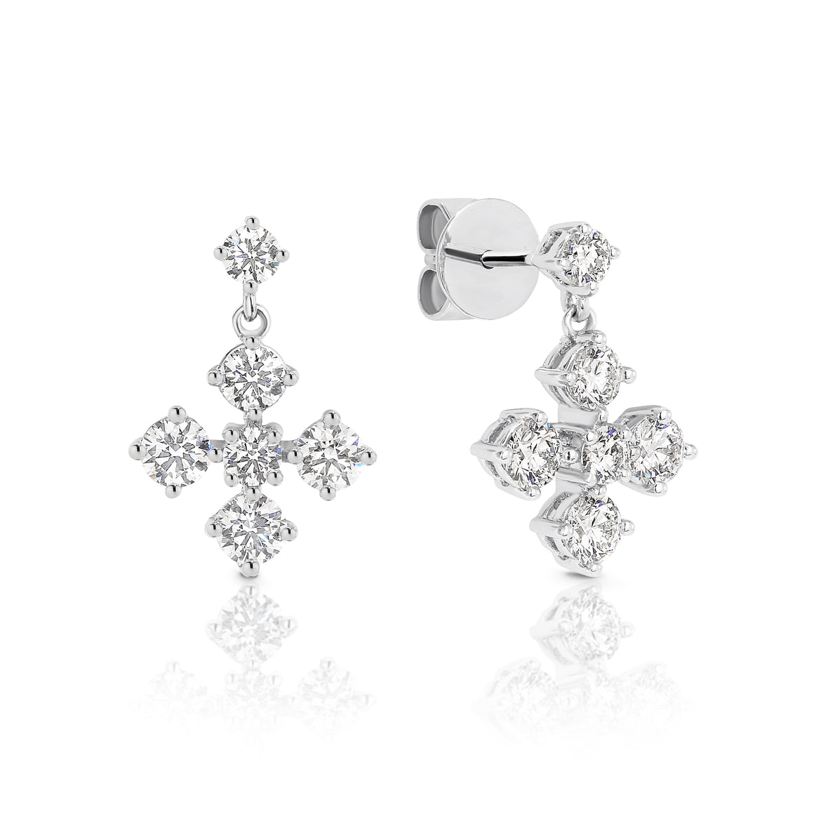"18ct White gold and diamond ""Nikita"" earrings - Gemma Stone Jewellery"