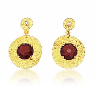 'Roma' Rhodolite Garnet and Diamond Earrings - Gemma Stone Jewellery