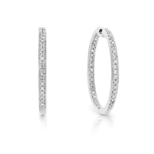 White Gold & Diamond 'Josie' Hoop  Earrings - Gemma Stone  ABN:51 621 127 866