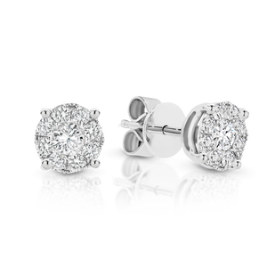 18ct White Gold and Diamond 'Mimi' Stud earrings - Gemma Stone Jewellery