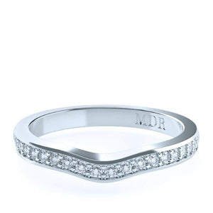 The 'Apport' Diamond Fitted Wedding Ring - Gemma Stone  ABN:51 621 127 866