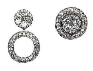 White Gold & Diamond 'Trilogie' Earrings - Gemma Stone  ABN:51 621 127 866