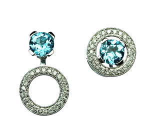 Diamond & Topaz 'Trilogie' Earrings - Gemma Stone  ABN:51 621 127 866