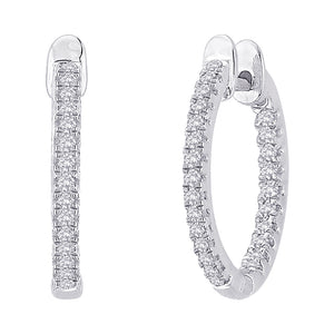 "White Gold & Diamond ""Pellegrino"" Hoop  Earrings - Gemma Stone  ABN:51 621 127 866"