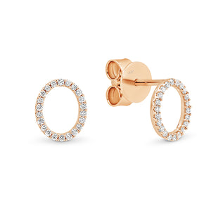 Oval Diamond Earring Studs