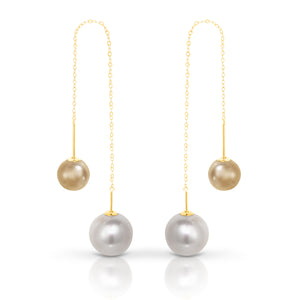 "Gold and Fresh Water Pearl ""Lordes"" Earrings - Gemma Stone  ABN:51 621 127 866"